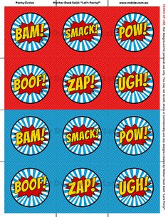 Super Hero Party Circles