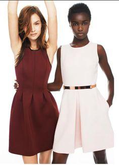CLUB MONACO Susie Neoprene Pleated Dress