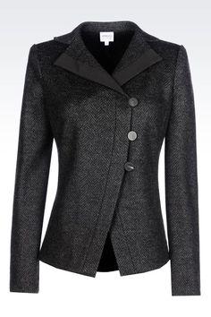 """Armani"" JACKET IN CHEVRON DESIGN JACQUARD WOOL BLEND - worn by Olivia Pope (Kerry Washington) on Scandal, season 4."