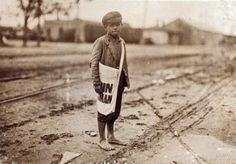 """October 1913. Austin, Texas. """"Sunday morning. Paul Luna, 9-year-old newsie who is up at 4 a.m. Sundays."""""""