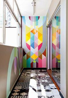 Apartamento com pitadas retrô e cores vivíssimas | Casinha colorida