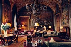 Chpt 6: Interior, Eastnor Castle, c. 1840s; Herefordshire, England; interiors by Augustus W. N. Pugin. Gothic Revival