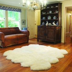 Auskin 100% Natural Lambskin Rug Collection from Costco, 4'x6' in Black or Natural White. $149.99.