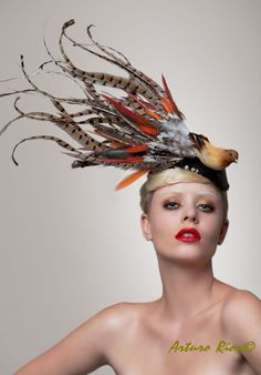 Melbourne Cup  Fascinator Brid Headpiece Cocktail by ArturoRios, $220.00