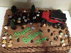 Jeep Birthday Cake Safari Birthday Party, Cars Birthday Parties, 3rd Birthday, Birthday Presents, Birthday Cakes, Birthday Ideas, Jeep Cake, Happy Birthday John, Cake Design Inspiration