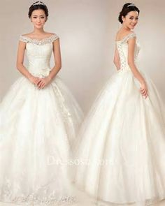 ballgown wedding dress off shoulder lace - Yahoo Image Search Results