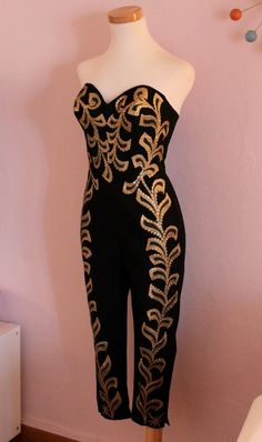 50s Mexican handpainted Atomic Bust Jumpsuit, custom made to measure.