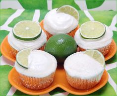 margarita cupcakes  and lime frosting