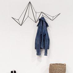 Hangram Coat Rack - Black by Femma Design Small Entry, Homemade Home Decor, Geometric Wall Art, Coat Hooks, Interior Walls, Wardrobe Rack, Home Accessories, Interior Decorating, New Homes