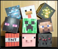 MineCraft Inspired Assorted Character Favors (Set of 12)
