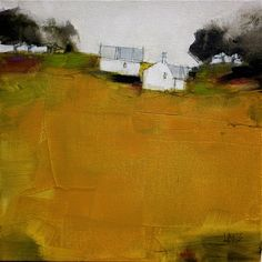 ochre view ~ acrylic and charcoal ~ by roger lane