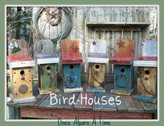 Barn wood birdhouses