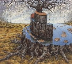 Jacek Yerka - Tree of the World