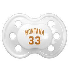#Montana 33 Birthday Designs Pacifier - #giftidea #gift #present #idea #number #33 #thirty-third #thirty #thirtythird #bday #birthday #33rdbirthday #party #anniversary #33rd