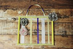 Picture Frame Bow Holder by CharliAnneElizabeth on Etsy, $20.00