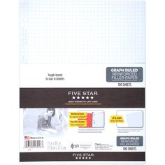 Five Star Graph Ruled Reinforced Filler Paper (17016)