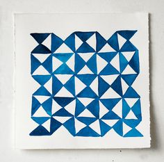 Abstract Geometric Watercolors by Lapis Lazuli Blues