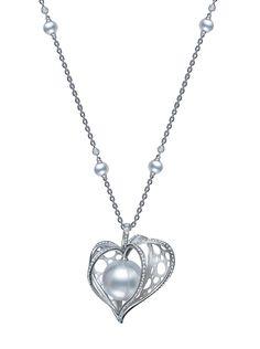 Mikimoto Cape Gooseberry pearl pendant