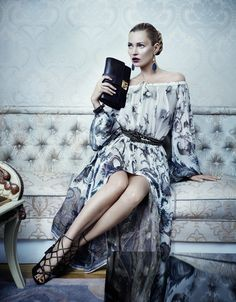 Ferragamo Fall 2012 Ad Campaign.    Kate Moss, photographed by Mikael Jansson.
