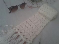 This simple lace broomstick crochet scarf is a great introduction to Broomstick lace.