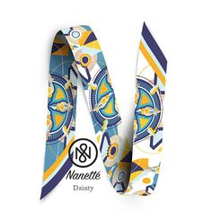 b6bc04816fa7 Dainty twilly designed by Nanette  nanettetwilly  design  scarf  twilly   blue
