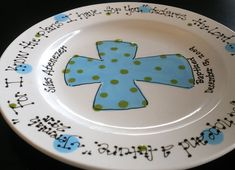 The 24 best baptism plates images on Pinterest | Baptism gifts ...