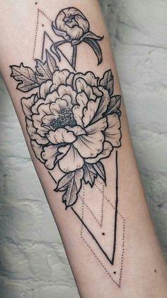 geometric flower tattoos – Tattoo Tips Subtle Tattoos, Pretty Tattoos, Beautiful Tattoos, Cool Tattoos, Girly Tattoos, Tatoos, Piercing Tattoo, Piercings, Tatoo Henna