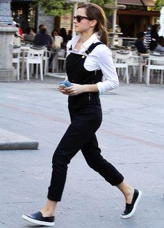 Emma Watson Kicks Her Street Style Up a Notch With Slip-On Sneaks