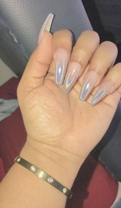 Some of my very most FAQs have to do with my nails! At any time I get my nails done I get tons and also lots of DMs regarding it. What did you do for you nails? Hot Nails, Hair And Nails, Gorgeous Nails, Pretty Nails, Nails After Acrylics, Nagel Gel, Chrome Nails, Best Acrylic Nails, Holographic Nails