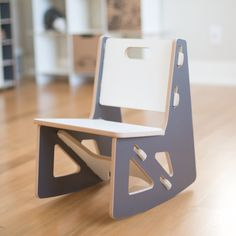 The modern kids rocking chair from Sprout is a great place for you children to sit and read.