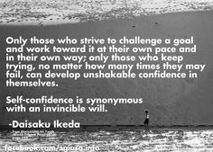 Great quote from Daisaku Ikeda