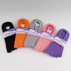 New Women's Low Cut Five Toe Socks Five Finger Shoes Vibram Adipure Cotton Sock #YTmall #Athletic