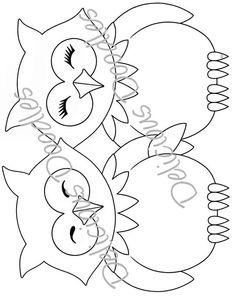Owl Coloring Pages, Cat Coloring Page, Owl Quilts, Bird Quilt, Pebble Painting, Fabric Painting, Applique Patterns, Applique Designs, Owl Clip Art