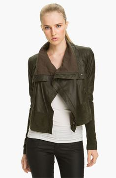 Veda 'Max' Leather & Suede Jacket available at #Nordstrom 845