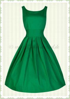 Lindy Bop 50er Jahre Vintage Rockabilly Petticoat Kleid - Lana - Grün  Festliche Kleider Grün, e0159069d3