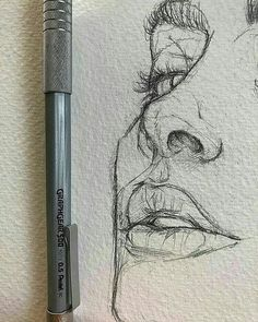 Love the rawness of ghis illustration sketches, drawing sketches, portrait sketches, sketch art Art Inspo, Kunst Inspo, Inspiration Art, Portrait Sketches, Drawing Sketches, Cool Drawings, Drawing Tips, Drawing Ideas, Drawing Faces