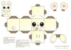 La Casita de Caro: Conejito Kawaii Papercraft 2!!