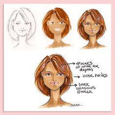 Fabulous Doodles-Fashion Illustration Blog-by Brooke Hagel: Tuesday Tips: Hair