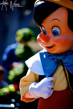 """""""There Are No Strings On Me"""" - Pinocchio made a rare appearance on Main Street, U.S.A. during Dapper Day at Disneyland."""