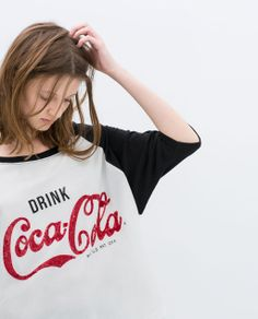 "Image 4 of ""COCA-COLA"" T-SHIRT from Zara"