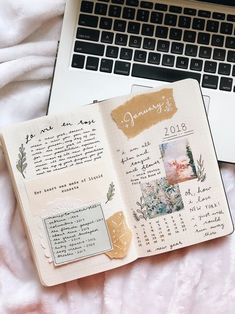 January Bullet Journal Cover Page Ideas {Get inspired!} – Scrapbook journal – Home crafts Album Journal, Planner Bullet Journal, January Bullet Journal, Bullet Journal Cover Page, Bullet Journal Spread, Scrapbook Journal, Bullet Journal Layout, My Journal, Journal Covers