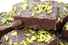 Spiced chocolate barfi