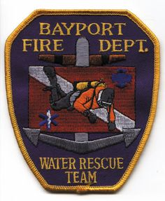 Bayport Fire Department (NY)  Water Rescue Patch   http://setcomcorp.com/marine-two-person-intercom.html