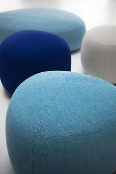 Upholstered fabric pouf KIPU by Lapalma design Torbjørn Anderssen, Espen Voll