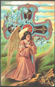 Easter Angel Vintage Postcard circa 1911
