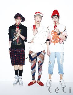 GOT7's BamBam, JB and Youngjae CéCi Korea Magazine March 2014 Issue