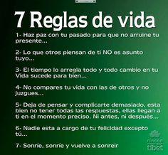 7 reglas de vida.