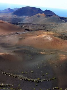 The multi-coloured volcanic desert of Timanfaya, Lanzarote