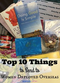 And someday they might even deploy and you will want to send them a care package to show your appreciation. Here are my top 10 care package items for women