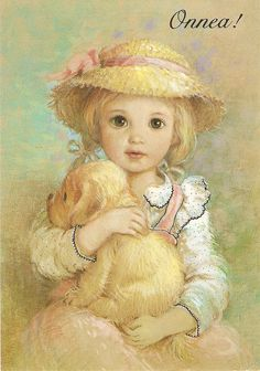 ❤️️️Vintage postcard ~ Spain ~ ~ little girl and puppy Clipart Baby, Vintage Cards, Vintage Postcards, Little Girl Illustrations, Little Girl Drawing, Baby Clip Art, Precious Children, Cute Illustration, Animals For Kids